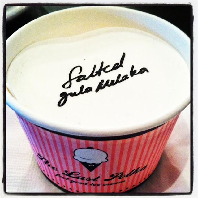 Salted Gula Melaka ice-cream