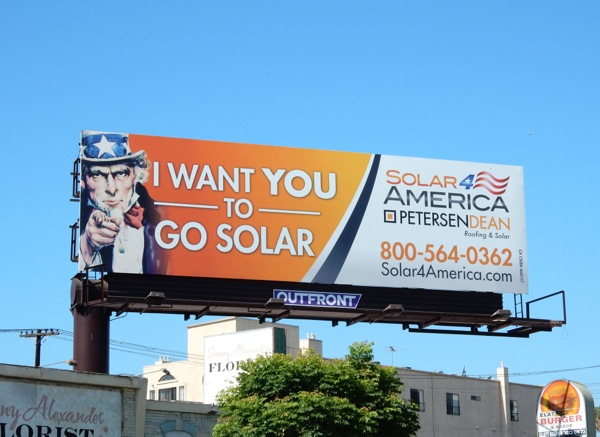 Uncle Sam I want you to go solar billboard