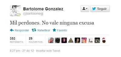 Bartolomé González (PP) se disculpó por su comportamiento