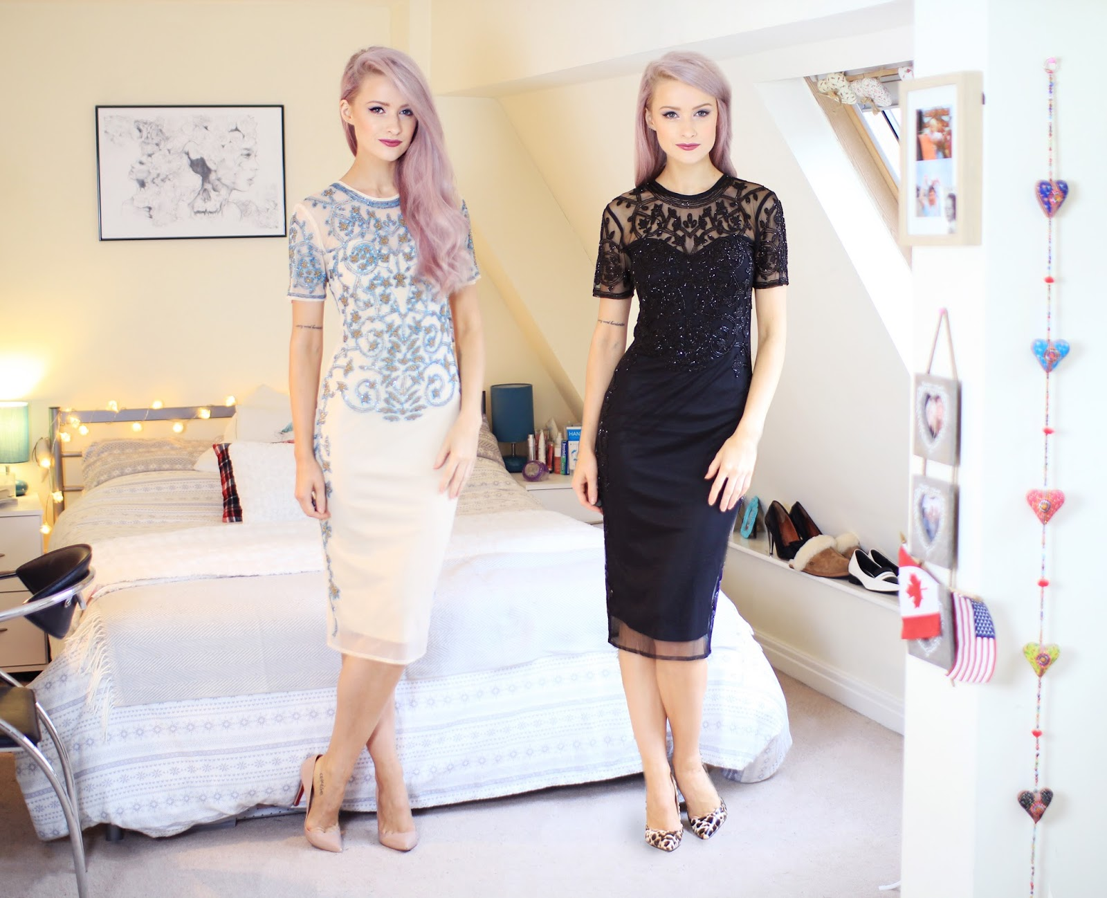 Black Vs Cream: The ASOS Baroque Embellished Dress