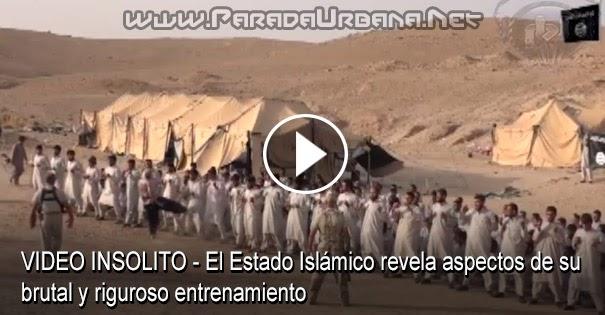 VIDEO INSÓLITO - El Estado Islámico revela aspectos de su brutal y riguroso entrenamiento