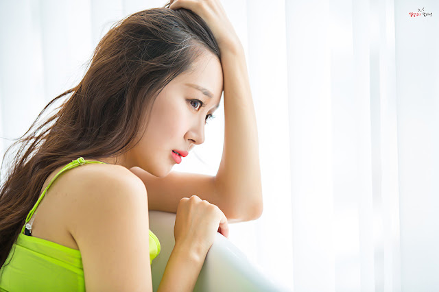 1 Han Ji Oh - Indoor Shoot - very cute asian girl-girlcute4u.blogspot.com
