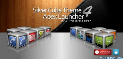 Silver Cube Theme 4 GoLauncher