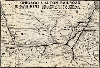 chicago and alton railroad route map