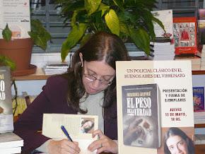 Lanzamiento de la segunda novela, en Buenos Aires