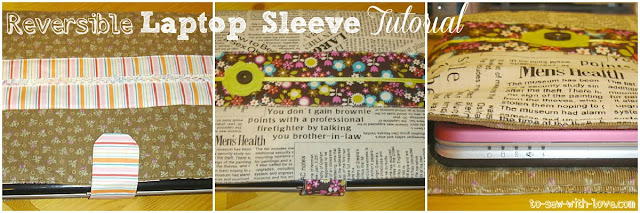 reversiblesleeve National Sewing Month 2012: Reversible Laptop Sleeve Tutorial