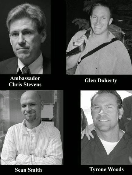Benghazi victims: Christopher Stevens, Sean Smith, Glen Doherty, Tyrone S. Woods