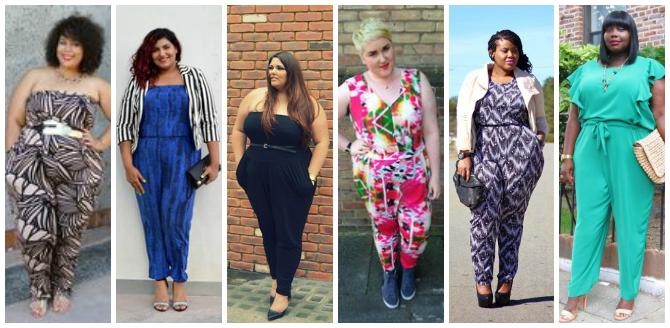 blogger plus size con la tuta