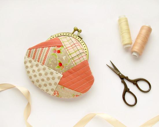 patchwork coin purse, кошелек для монет