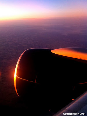 Sunset at 36,000 feet