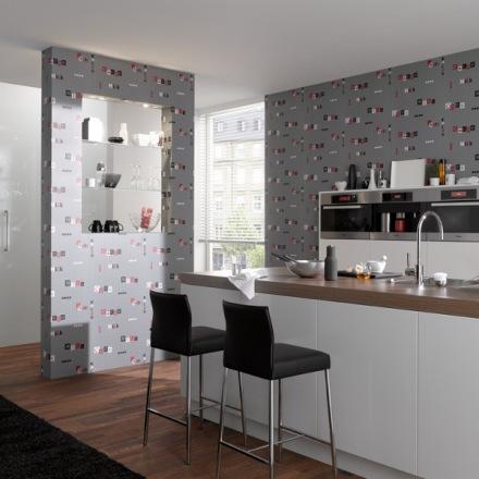 Hogar diez papeles pintados para ba os y cocinas for Papel vinilico para pared