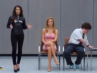 Bar Refaeli kisses Jesse Heiman with Danica Patrick Go Daddy Super Bowl 2013 Commercial