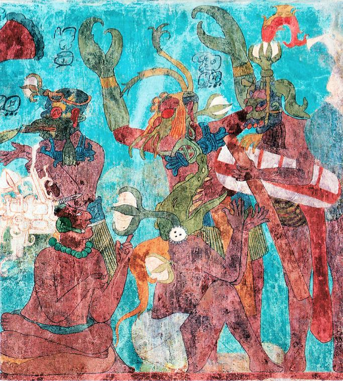 Artbouillon mayan murals for Bonampak mural painting