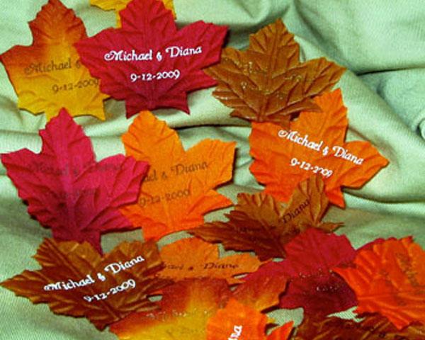 Autumn lights picture autumn leaves decorations for Autumn leaf decoration