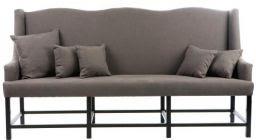 Høy sofa til spisebord