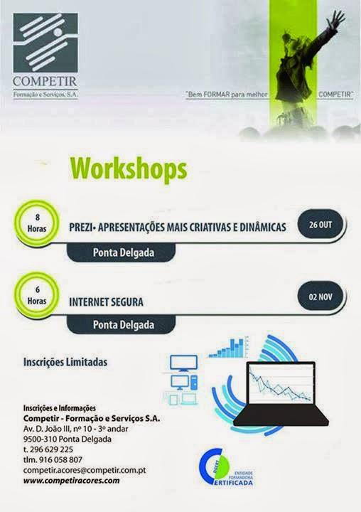 Workshops (Prezi e Internet) em Ponta Delgada