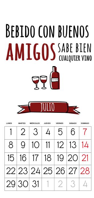 calendario 2013 gratis julio