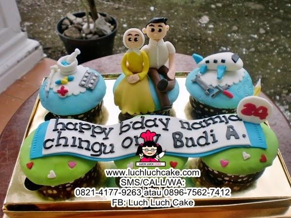 Cupcake Tema Mekanik Pesawat dan Farmasis Daerah Surabaya - Sidoarjo