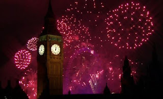 New Year London 2012 Eve Celebrations, Fireworks near Big Ben -Travel Europe Guide