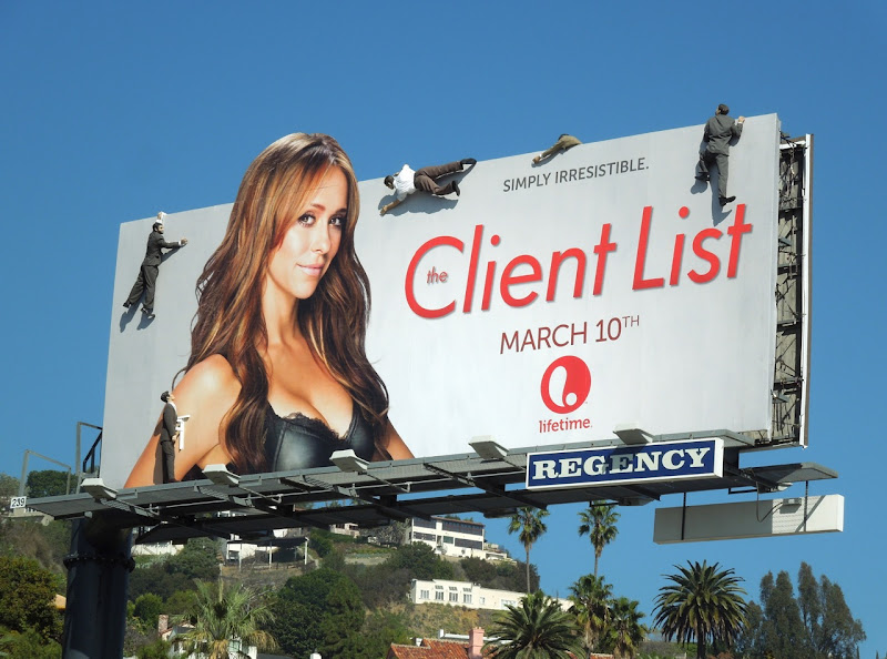 The Client List season 2 mannequin billboard installation