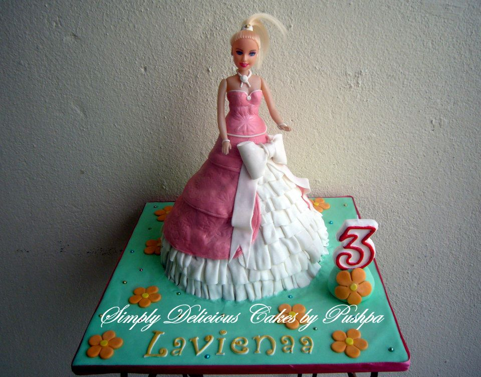 barbie princess doll cake