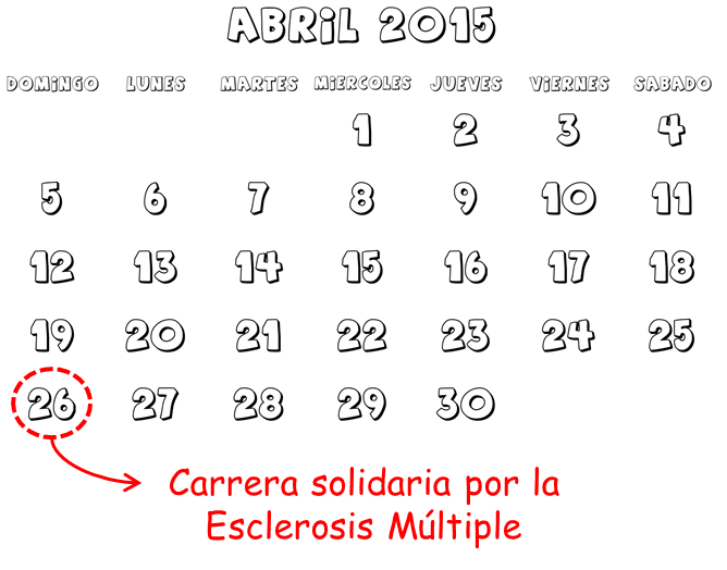 calendario abril carreras cursas solidaria montmelo esclerosis multiple