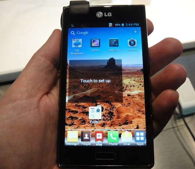 LG Optimus L7 P700 P705 hands on display