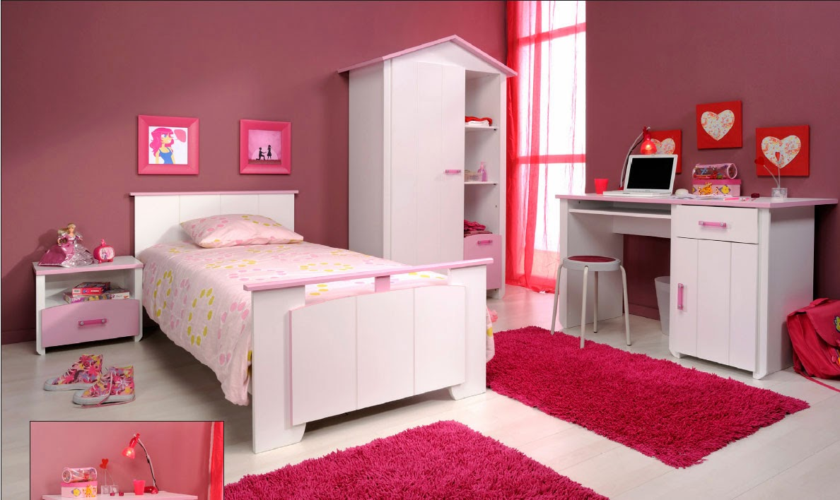 d coration et bricolage chambre coucher fillettes. Black Bedroom Furniture Sets. Home Design Ideas