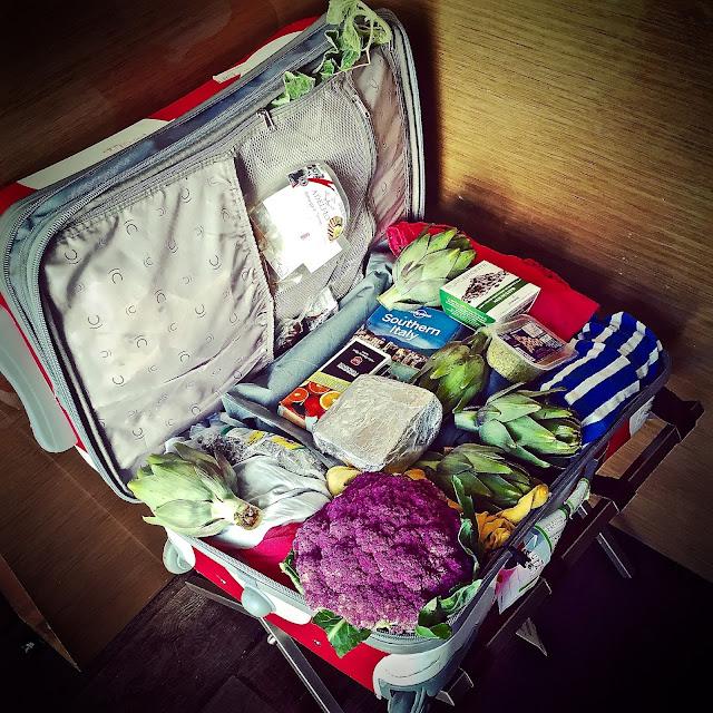 a cooks' suitcase,  catania, sicily