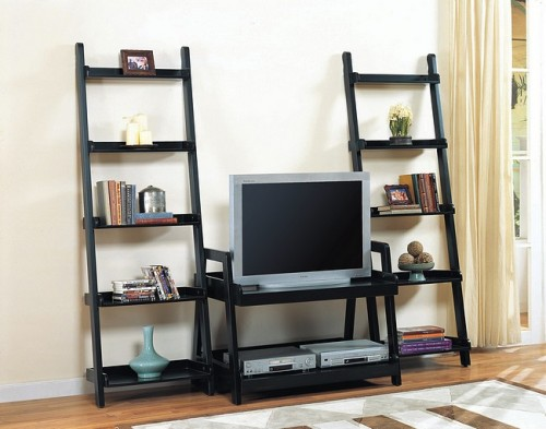 modern tv stand with decorative shelves home interior. Black Bedroom Furniture Sets. Home Design Ideas
