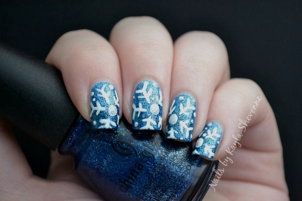Nails by kayla shevonne christmas nail art tutorial snowflakes and if you try this design out for yourself be sure to share it with me on the nails by kayla shevonne facebook page prinsesfo Choice Image
