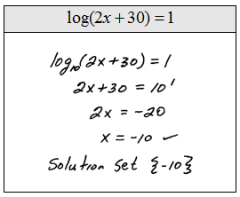 how to solve logarithmic equations with base 10