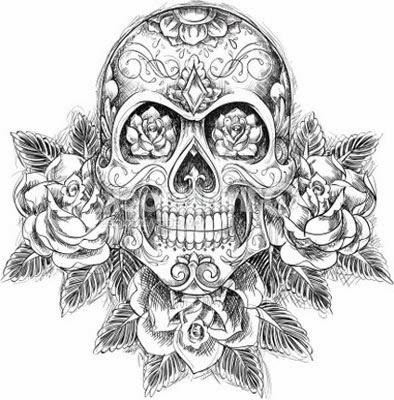 Desenhos de caveira mexicana para imprimir