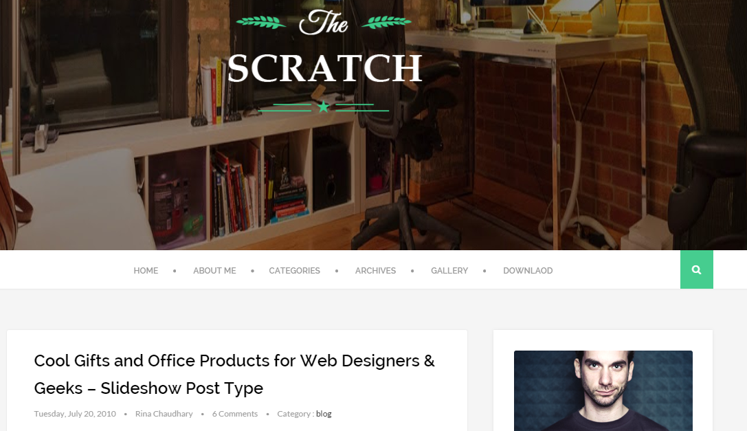 Download Scratch Clean and Responsive Free Blogger Template