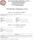 10 Mar 2013 Nomination Form