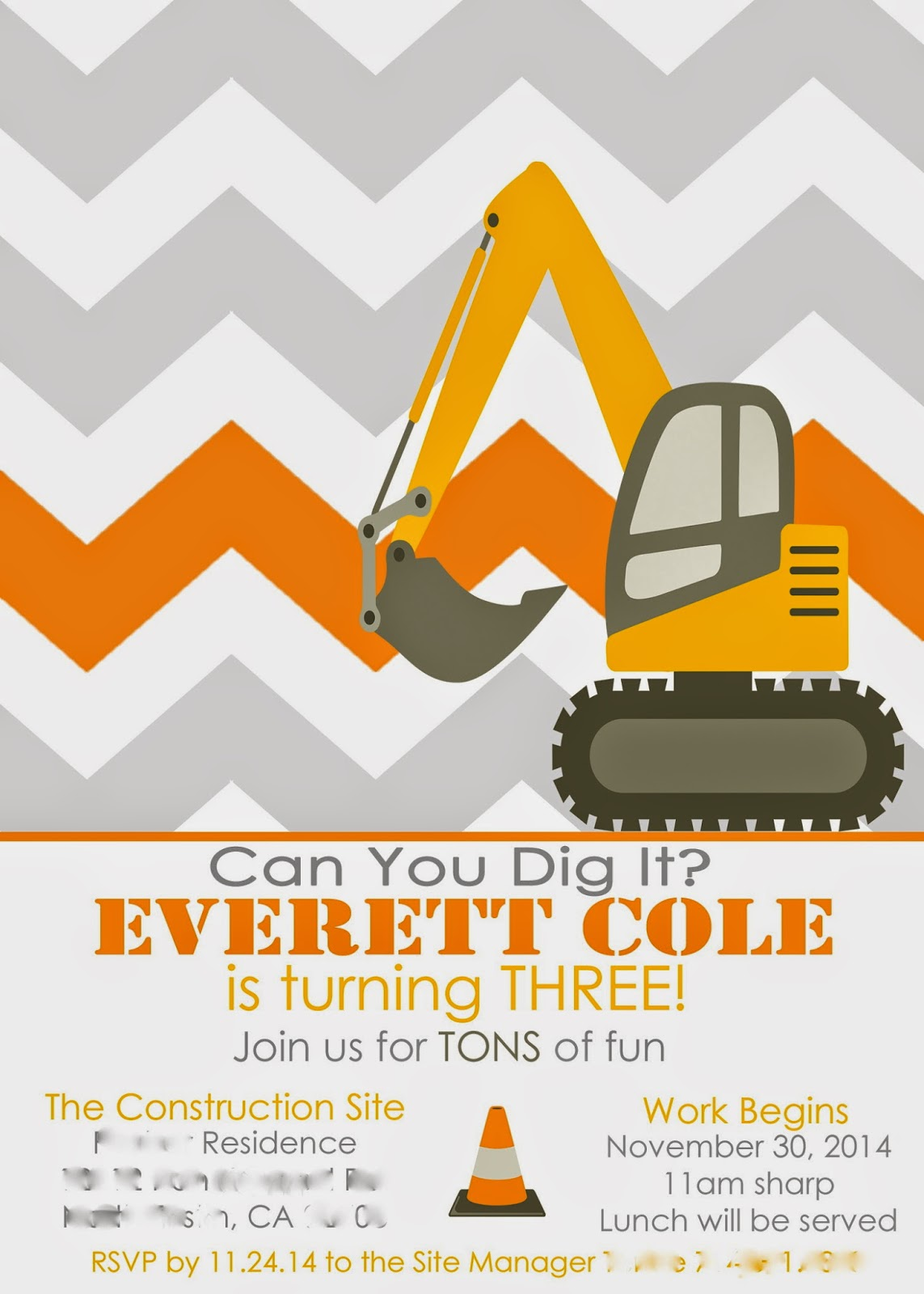 It\'s Ella\'s World Now: Everett\'s Construction Truck & Tool Party