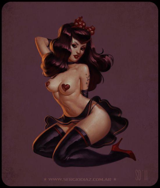 Sergio Diaz zaidoigres deviantart ilustrações sombrias e garotas nuas sensuais