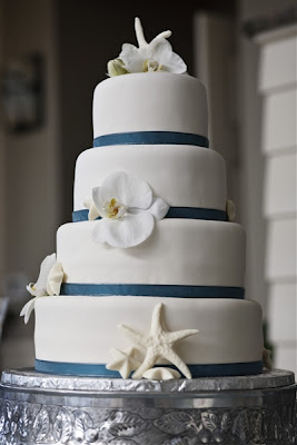 Great Ideas for the Busy Little Bride: Beach Theme Wedding Cakes!