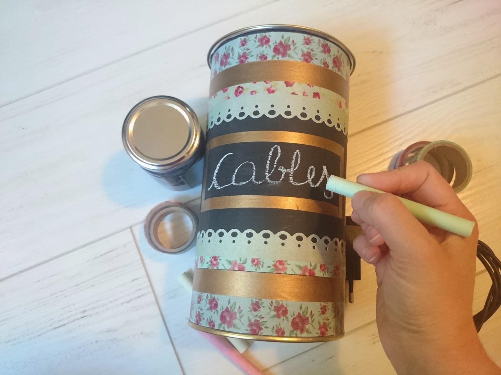 Mayninetes crafty life decorar una lata con pintura de - Como decorar una caja de metal ...