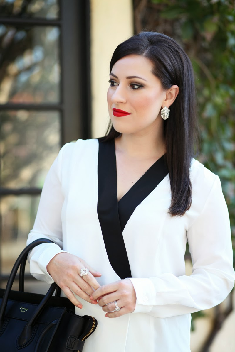 black-and-white-tuxedo-style-top-collective-concepts-stila-beso-lipstick-king-and-kind-fashion-blog