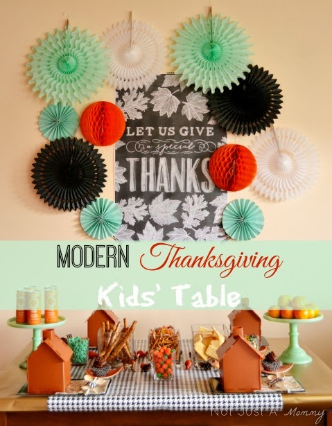 Modern Thanksgiving kids' table