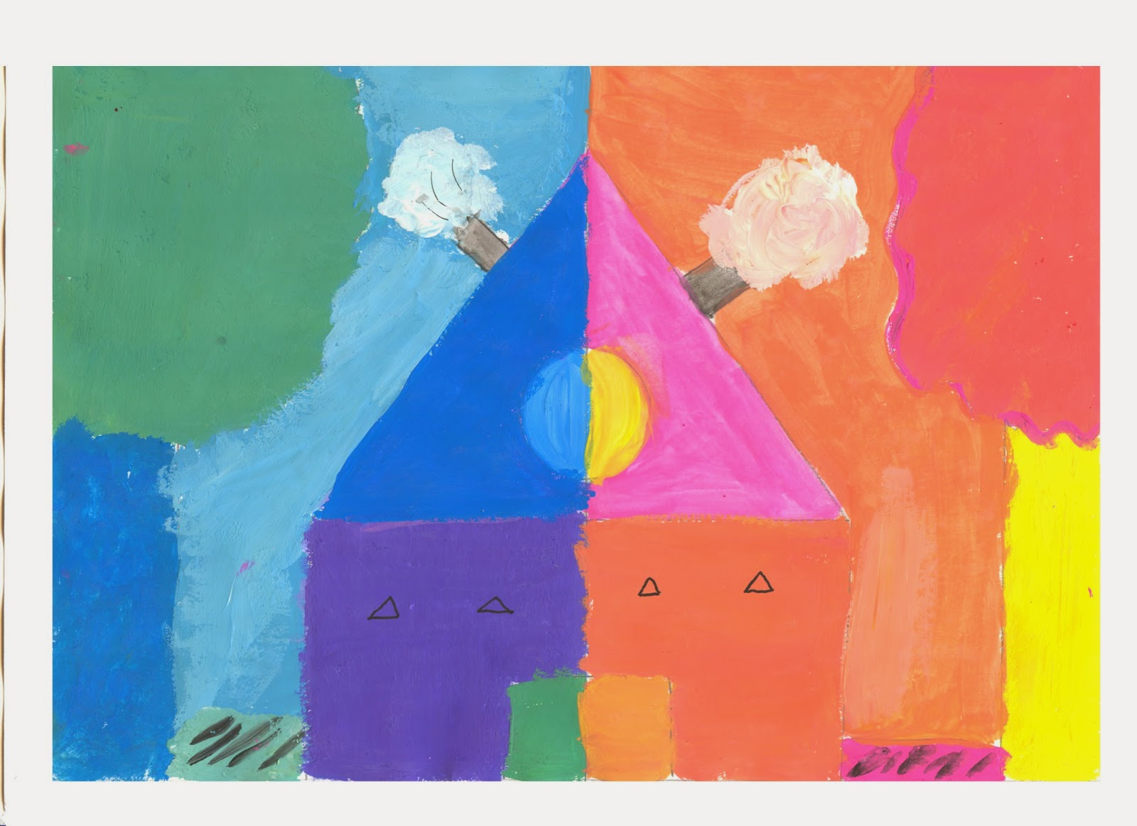 Dibujos educacion plastica y visual colores c lidos y frios - Paisaje con colores calidos ...