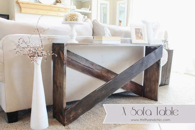Easy diy sofa table