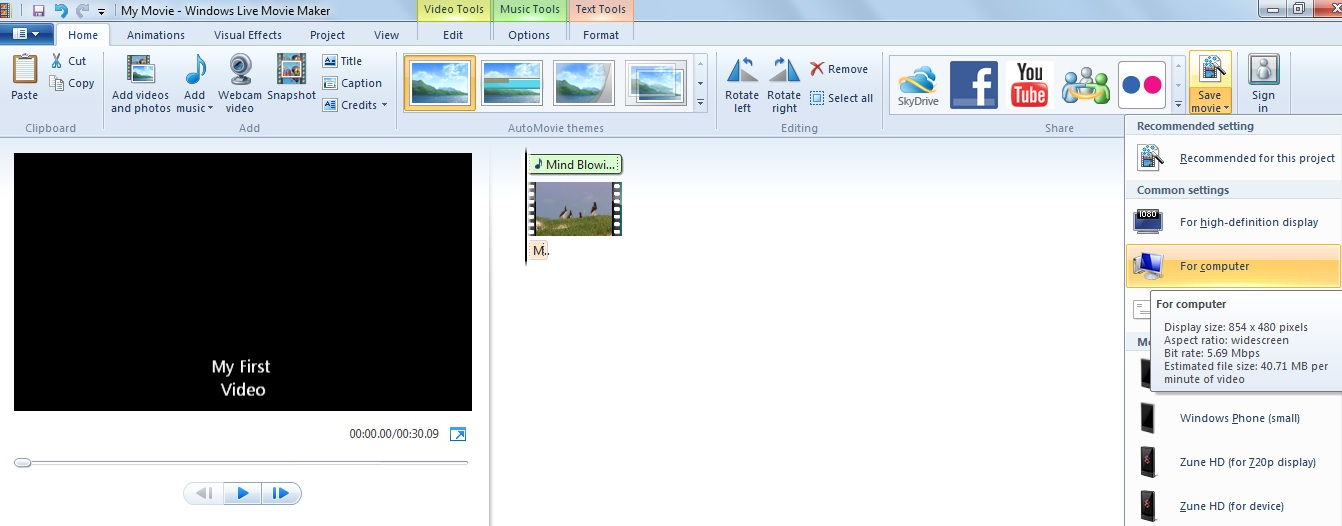 Windows Movie Maker Your Computer
