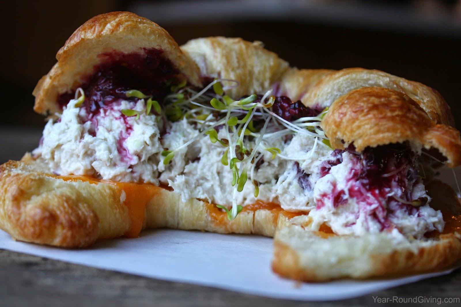Chicken Salad & Blackberry Croissant