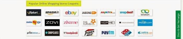 Flipkart+Jabong+Myntra+Snapdeal+ShopClues+Copuons