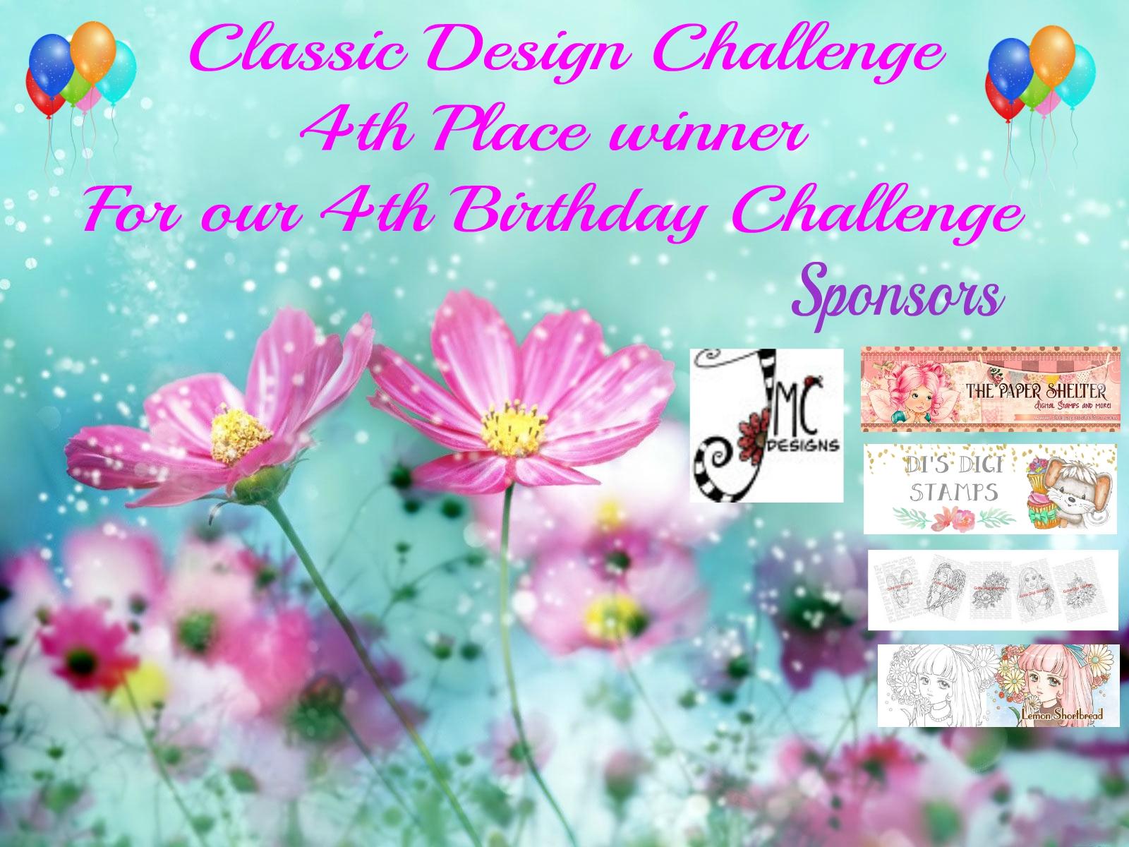 4th Place Winner, Classic Design Challenge, April 2020