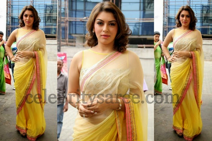 Hansika Motwani Latest Saree