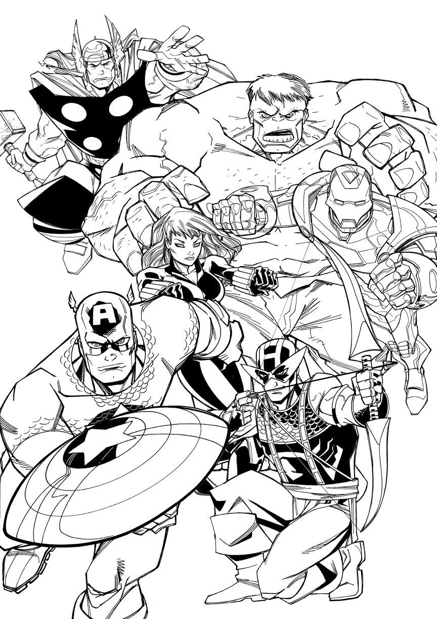 falcon avengers coloring pages - photo#31