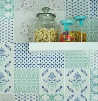 azulejo colorido adesivo